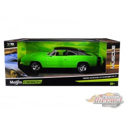 1969 Dodge Charger R/T Green  Maisto 1/18  32612 Passion Diecast