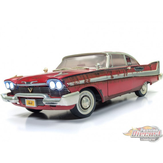 1958 Plymouth Fury CHRISTINE Version sale et rouillée  Auto World 1/18 AWSS119 -  Passion Diecast