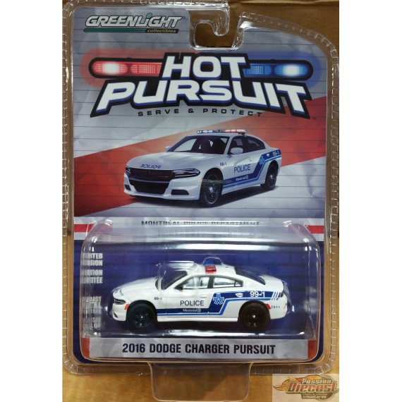 Hot Pursuit  exclusif  SPVM  2016 Dodge Charger Police de Montreal  1/64 GL- 51202
