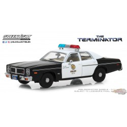 1/64 The Terminator (1984) - 1977 Dodge Monaco Metropolitan Police Greenlight 86534 Passion Diecast
