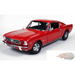 1/18  1965 Mutang 2 + 2 Coupe Rouge Autoworld AMM1000 Passion diecast