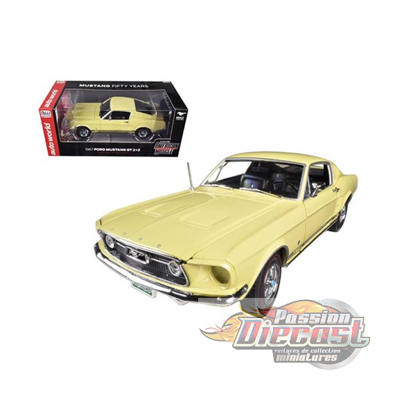 1/18  1967 Ford Mustang 2 + 2 GT  Autoworld AMM1038 PAssion diecast