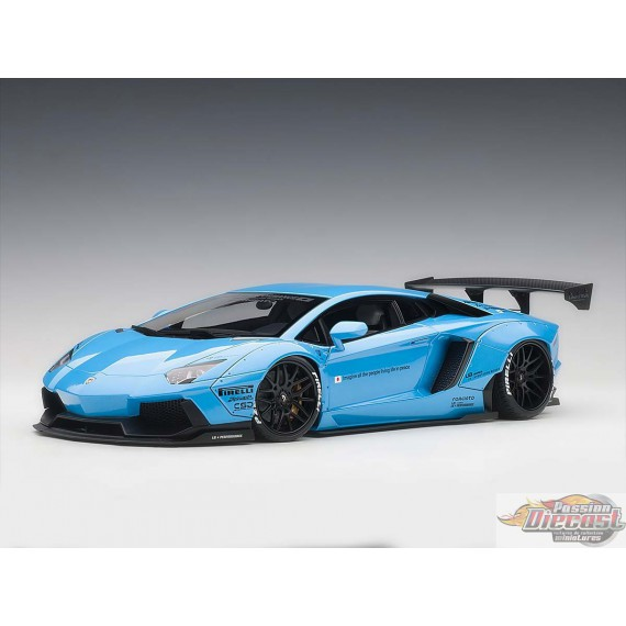 Lamborghini Aventador LB WORKS - Bleu Ciel  Autoart  79107  Passion Diecast