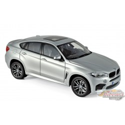 BMW X6 M 2016 - SILVER 1/18  Norev 183200  Passion diecast