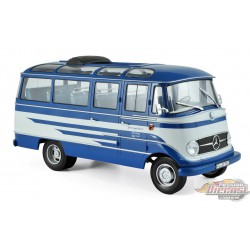 MERCEDES-BENZ O319 BUS 1957 - BLUE & BEIGE 1/18  Norev 183412  Passion diecast