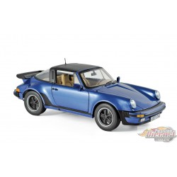 PORSCHE 911 TURBO TARGA 1987 - BLUE METALLIC 1/18  Norev 187663 Passion diecast