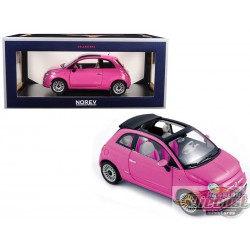 FIAT 500C 2010 - SO PINK 1/18  Norev 187752  Passion diecast