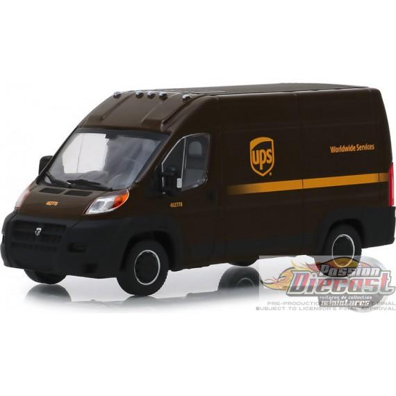 Dodge Ram ProMaster 2500 Cargo Toit surélevé 2018 Services internationaux de United Parcel Service (UPS) Greenlight 86152 1/43