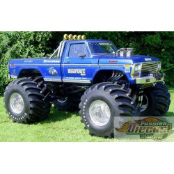 Ford F-250 Monster Truck 1974 avec roues 48 pouces Kings of Crunch -Bigfoot NO1  Greenlight 13537  1/18 Passion Diecast