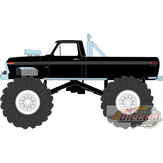 Ford F-250 Monster Truck 1979 avec roues 48 pouces Kings of Crunch - Noir Greenlight 13538  1/18 Passion Diecast