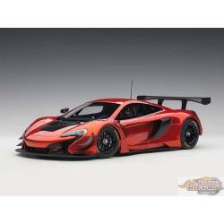 McLAREN 650S GT3 - Volcano Orange Black accents  Autoart 1/18  81642  Passion diecast
