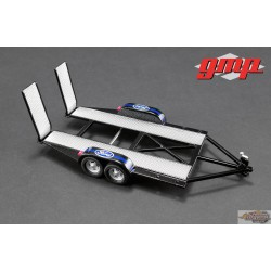 Tandem Car Trailer with Tire Rack -FORD  GMP 1/43 14305 Passion Diecast