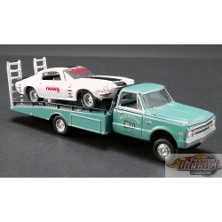 Holley -  Chevrolet C30   Camion à rampe 1967 et Camaro  1971 Acme 1/64   51247 Passion Diecast