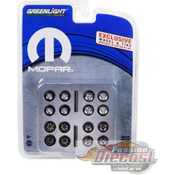 MOPAR Wheel & Tire Pack (Hobby Exclusive) 1/64 Greenlingt 13168 Passion Diecast