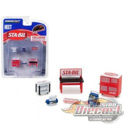 Muscle Shop Tools Set STA-BIL & HEET  (Hobby Exclusive) 1/64 Greenlingt 13165 Passion Diecast