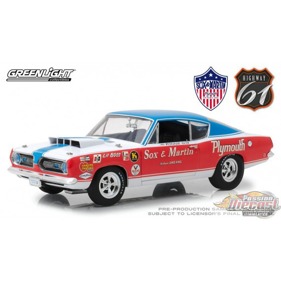 1968 Plymouth Barracuda Sox & Martin Drag car 1/18 HWY 61 18003 Passion  Diecast