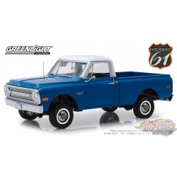 1970 Chevrolet C-10 with Lift Kit in Dark Blue Poly 1/18 HWY 61  18011 Passion Diecast