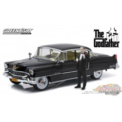 The Godfather 1955 Cadillac Fleetwood Series 60  with Don Corleone figurine Greenlight 1/18 13531 Passion Diecast
