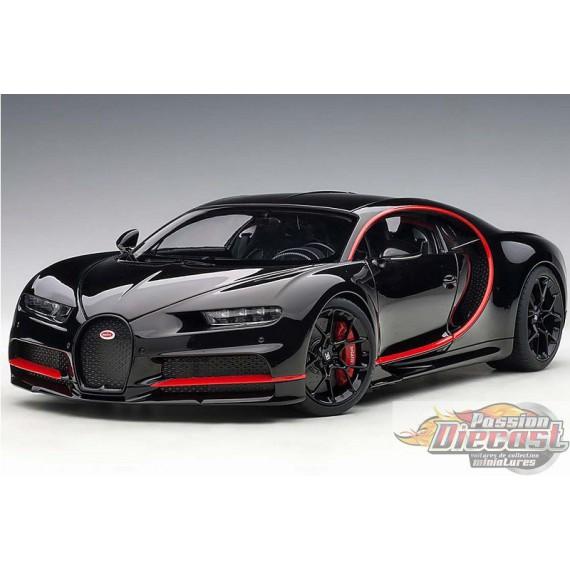 Bugatti Chiron 2017 Nocturne Black W Red Accents 1 18 Autoart 70991 Passion Diecast