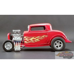 FORD 3 WINDOW - FLAMETHROWER 1932 1:18 ACME  A1805016 Passion Diecast