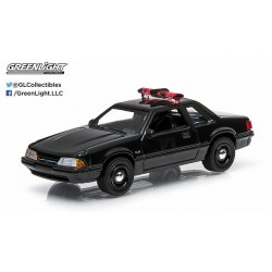 Black Bandit Series 11  1987 Ford Mustang SVO LX Police Greenlight 1:64 27760 C  Passion Diecast