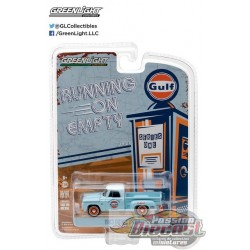 1963 Dodge D-100 Stepside - Gulf Oil   Running on Empty Series 1 Greenlight 1:64    41010 B  Passion Diecast
