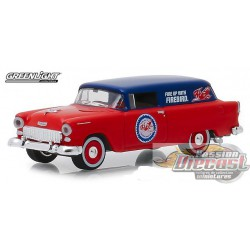 1955 Chevrolet One Fifty Sedan Delivery - Pure Oil  Running on Empty Series 7  Greenlight 1/64 41070 A Passion Diecast