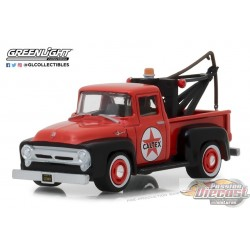 1956 Ford F-100 with Drop-In Tow Hook- Caltex -  Running on Empty 6 Greenlight 1/64  41060 A Passion Diecast