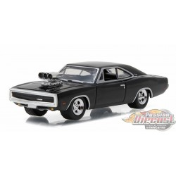 1970 Dodge Charger with Blown Engine in Black  GL Muscle Series 17 Greenlight 1/64  13170 B Passion Diecast