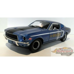 1968 Ford Mustang GT Fastback *Jimbo's Pure Oil* Go Go Gone, Racing Tribute Edition Greenlight 1/18  12844 Passion Diecast