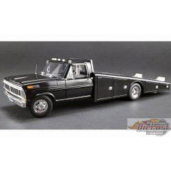 1970 Ford F-350 Ramp Truck in Black - ACME 1/18 A1801400 Passion Diecast
