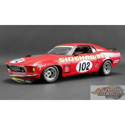 1969 FORD BOSS 302 TRANS AM MUSTANG - SIDCHROME  No 102 ACME  A1801829 Passion Diecast