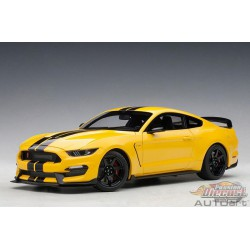 FORD SHELBY MUSTANG GT350R (TRIPLE YELLOW W/ BLACK STRIPES)  AUTOART 1/18  72932 Passion Diecast