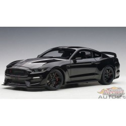 Ford Shelby GT-350R - Shadow Black with black stripes  AUTOART 1/18  72934 Passion Diecast