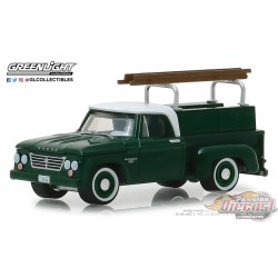 1963 Dodge D-100 with Ladder Rack  Blue Collar  Series 5 Greenlight 35120 B 1/64  Passion Diecast