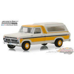 1977 Ford F-100 with Camper Shell   Blue Collar  Series 5 Greenlight 35120 D  1/64  Passion Diecast