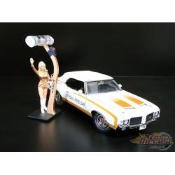 1972 Hurst Oldsmobile Indy 500 Pace Car W/ Linda Vauhn Figure Acme 1/18 A1805601 Passion Diecast