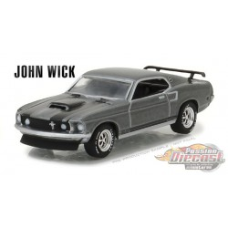 1969 Ford Mustang BOSS 429   John Wick  Greenlight 1/64 44780 E Passion Diecast