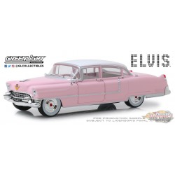 1955 Cadillac Fleetwood Series 60  Pink Cadillac  Elvis Presley  Greenlight 1/24 84092 Passion Diecast