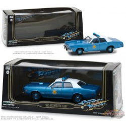 1975 Plymouth Fury -Arkansas State Police Smokey and the Bandit  Greenlight 1/43  86536 PASSION DIECAST