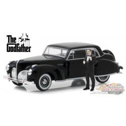 1941 Lincoln Continental - Le Parrain avec figurine Don Corleone  Greenlight 1/43 86552 Passion Diecast