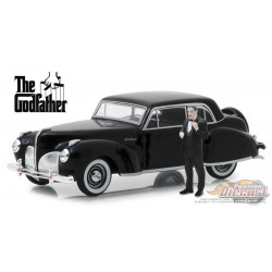 1941 Lincoln Continental - The Godfather with  Don Corleone Figure Greenlight 1/43 86552 Passion Diecast