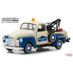 1953 Chevrolet 3100 Tow Truck BF Goodrich - Running on Empty  1 -  Greenlight 1/43 87010 C  Passion Diecast