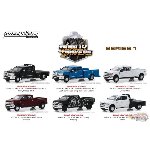 Dually Drivers Series 1 assortment 1-64 greenlight 46010 Passion Diecast