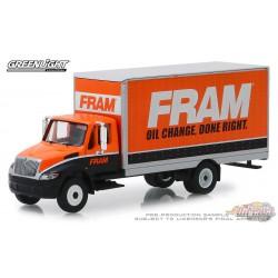 2013 International Durastar Box Van - FRAM Oil Filters   H.D. Trucks Series 16  1/64 Greenlight 33160 B Passion Diecast