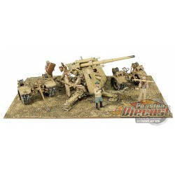 Flak 36 88mm Anti-Tank Gun  Battle of EL Alamein, North Africa, June 1942 1:32  Forces of Valor 801008B Passion Diecast