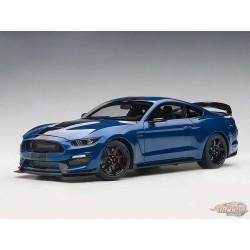 Ford Shelby GT-350R - Bleu éclair avec bandes noires AUTOART 1/18  72933