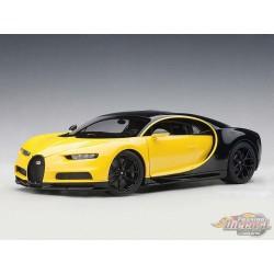 Bugatti Chiron 2017 - MOLSHEIM YELLOW / NOCTURNE BLACK  1/18 AUTOART  70994 Passion Diecast
