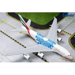 Emirates Airbus A380-800 A6-EOC Expo 2020 Bulles de Mobilité Bleu  Gemini 1/400  GJUAE1833 Passion Diecast