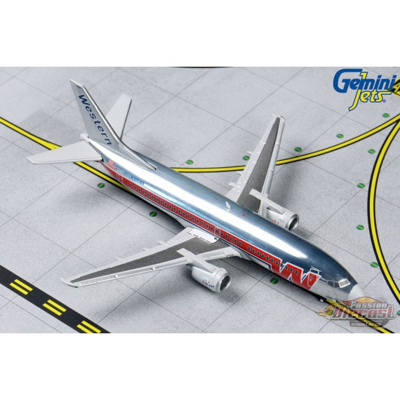 Western 737-300  N306WA  Polished, Final Livery   Gemini 1/400  GJWAL1202 Passion Diecast